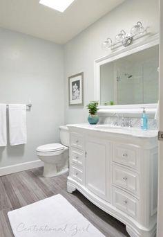 100 Easy Bathroom Decor Ideas | Shutterfly- faux wood flooring
