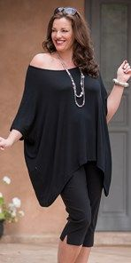 Plus size Join Clothes black knitted top