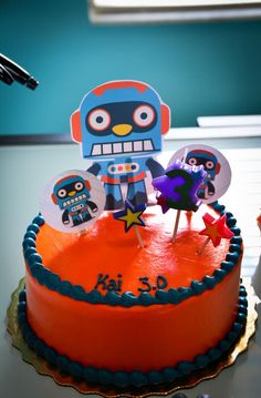 Robot Themed Birthday Party with Lots of Fun Ideas via Kara's Party Ideas | KarasPartyIdeas.com #Robots #Party #Ideas #Supplies (3)