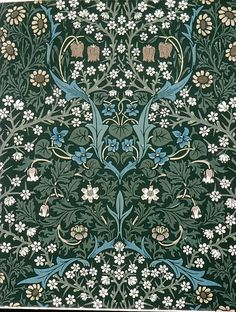 Blackthorn design, 1892. William Morris (British, 1834-96). Wood-block print. Metropolitan Museum of Art, New York.