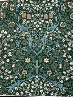 Blackthorn design, 1892. William Morris (British, 1834-96). Wood-block print. Metropolitan Museum of Art, New York.