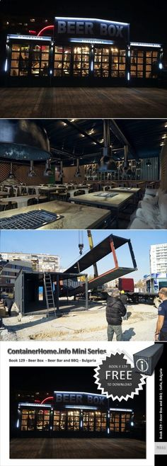 Container Home Book 129 – Shipping Container Beer Bar and BBQ – Bulgaria