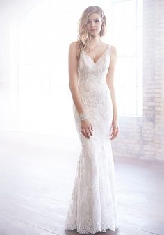 I like the simplicity of this one, combined with the lace.  Madison James