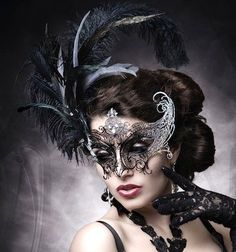Mask and feathers