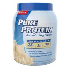 Pure Protein Natural Whey Protein French Vanilla - 25.6 oz.
