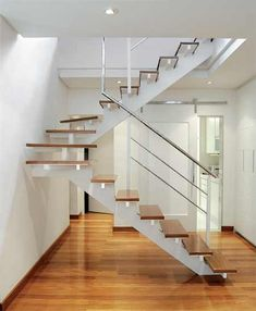 Inventive Staircase Design Tips for the Home – Voyage Afield House Outer Design, Modern House Design, Modern Interior Design, Home Stairs Design, Interior Stairs, Metal Building Homes, Building A House, Building Ideas, Open Staircase