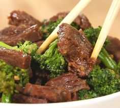 CROCK POT BEEF & BROCCOLI ~ 1.5 lbs flank steak, thinly sliced  chopped in 2 inch pieces 1 c Beef broth 4 c Broccoli florets 2/3 c Soy sauce 1/3 c Brown sugar 1 Tbsp Sesame oil 1 Tbsp Minced garlic 1/4 tsp Red chili flakes 2 Tbsp Corn starch + 4 tablespoons cold water...DIRECTIONS:  1. Grease inside slow cooker. Add steak, beef froth, soy sauce, brown sugar, sesame oil, garlic, and chili flakes. 2. Cover cook high for 2-3 hrs/low 4-5 hrs. 3. minutes before serving, uncover slow cooker.