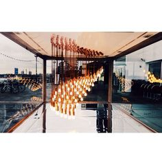 """Bright idea. #DesignMuseum"" See the new Plumen 002 featured in the Light Wave installation at the Design Museum here - http:www.plumen.com"