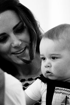 The Duchess of Cambridge and Prince George. Love this picture for Duchess of Cambridge Kate Middleton and Prince George.