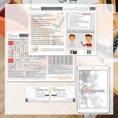 Création #logo #flyer et cartes de visite pour A2 diagnostic @joliepub