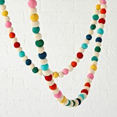 You've never felt more festive till you've felt our Festive Felt Garland. Perfect for a playroom, kids room or any shared space, they can even be mixed and matched for an extra colorful display.
