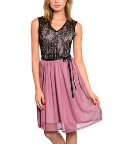 Look what I found on #zulily! Pink & Black Lace Sleeveless Dress by The Wholesale Fashion Square #zulilyfinds