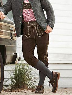 Knee-length lederhosen http://www.oktoberfesthaus.com