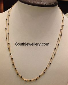 New Jewerly Necklace Simple Sweets 53 Ideas Gold Chain Design, Gold Jewellery Design, Antique Jewellery, Gold Mangalsutra Designs, Gold Earrings Designs, Black Choker Necklace, Simple Necklace, Pearl Necklace, Gold Jewelry Simple