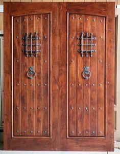 Alder Exterior Doors   Rustic Arch Top Doors