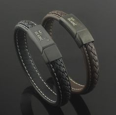 Men jewelry Mont Blanc leather bracelet