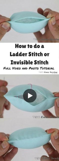 How to do a ladder stitch or invisible stitch step by step video and photo tutorial. So useful to know! by dee29
