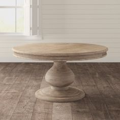 Round Dinning Room Table, Natural Wood Dining Table, Large Round Dining Table, Round Wood Dining Table, Dining Room Table Decor, Round Farmhouse Table, French Country Dining Table, Pine Table, Round Tables