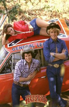 Vintage Cars Dukes of Hazzard TV Show Cast Rare Vintage Poster - A great Dukes of Hazzard poster - Bo, Luke, Daisy, and the General Lee from the classic TV Show! 80 Tv Shows, Old Shows, Great Tv Shows, 1970s Tv Shows, 1980s Tv, Childhood Tv Shows, My Childhood Memories, Movies And Series, Movies And Tv Shows