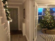 IMG_3994 1930s House Interior, 1920s House, Dream House Interior, Interior Design, Chapel Conversion, New England Style, Hallway Decorating, Christmas Home, Christmas Ideas