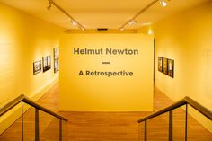 Sign greeting attendees at the entrance of the exhibition. Helmut Newton, Tree Branches, Entrance, Art Pieces, Sign, Entryway, Artworks, Doorway, Signs