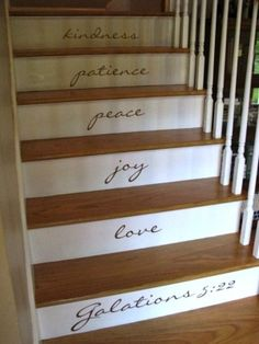 Fruit of the Spirit Stairs <3