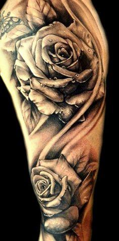 tattoos for men 58175  Rose Tattoos For Men Sleeve