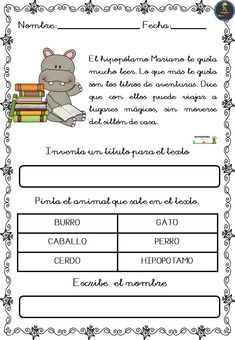Teaching Spanish, Worksheets, Acting, Kindergarten, Homeschool, It Cast, How To Plan, Education, Learning