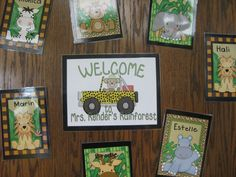 #entrance door, #rainforest #classroom, #kindergarten, #elementary
