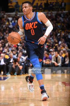 23c93344 News Photo : Russell Westbrook of the Oklahoma City Thunder... Volleyball  Shoes,