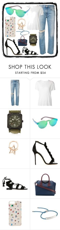 """""""Fashion plus"""" by denisee-denisee ❤ liked on Polyvore featuring R13, Bell & Ross, RetroSuperFuture, Kismet by Milka, Olgana, Stuart Weitzman, Givenchy, Gray Malin and Monica Vinader"""