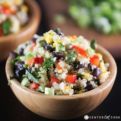 southwestern quinoa salad | The dressing was great. I didn't have the bell peppers or cilantro, but it definitely needed it.