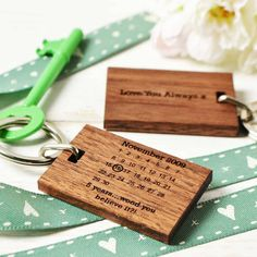 Personalised Fifth Anniversary Keyring from notonthehighstreet.com