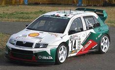 Skoda Fabia WRC rally car