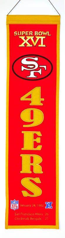 San Francisco 49ers Super Bowl XVI Banner - Sportsfan