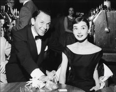 My favorite actress (and role model) with one of my favorite artists of all time.  Audrey and Sinatra. #icon #menstyle #franksinatra #audrey #audreyhepburn