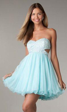 tiffany blue prom dress, junior prom dresses, A line ball gown, cute prom dress, short cocktail dresses, blue cocktail dresses, evening dress | Cheap prom dresses Sale