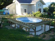 """Résultat de recherche d'images pour """"comment construire une terrasse autour d'une piscine hors sol"""""""