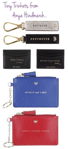 sweet little custom trinkets from anya hindmarch