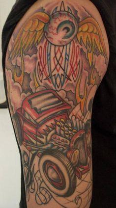 Hot Rod Car and Truck Tattoo 27