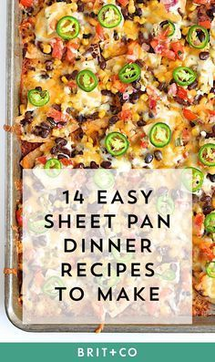 Healthy Recipes 14 Easy Sheet Pan Suppers That Make Dinner and Cleanup a Breeze via Brit Co - Your stomach ( dishwasher) will thank you. Brit, One Pan Dinner, Sheet Pan Suppers, Supper Recipes, Beach Dinner Recipes, One Pot Meals, Quick Meals, Quick Summer Meals, So Little Time