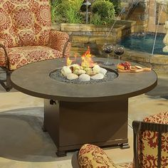 Vesuvius Chat Height Fire Pit Table