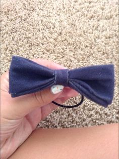 DIY no sew hair bow