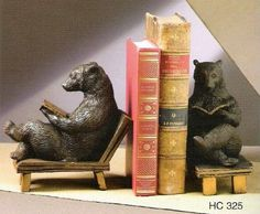 antique bookends - Google Search: Ours Grizzly, Copper Tea Kettle, Architecture Tattoo, Reading Room, Book Nooks, I Love Books, Art Deco, Home Accessories, Bookends