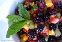 Sweet Fruit Salsa with Cinnamon Chips
