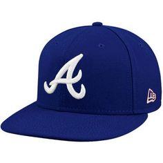 Men's Atlanta Braves New Era Royal/White League Basic Fitted Hat