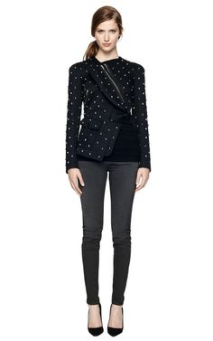 Embellished Cotton Jacket With Back Pleats by givenchy Now Available on Moda Operandi