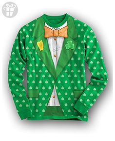 5d11bc4d Saint Patricks Day Tuxedo T shirt All Over Print Funny St Paddy Shirts  Irish Tee (green) L, Women's, Size: Large