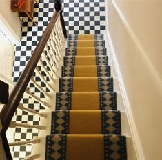 SOPHIE COONEY Stair Rug Runner, Stair Rugs, Stair Runners, Stairs, Flooring, Contemporary, Beautiful, Post Office, Home Decor