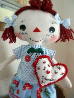 Cherrie Amour Raggedy Doll - I want I want I want...BlossomTimeCreations